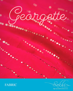 FB-Q24909 - Pink &  Pure Georgette Fabric