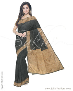 ITS-16763 - Green &  Blended Tussar Saree