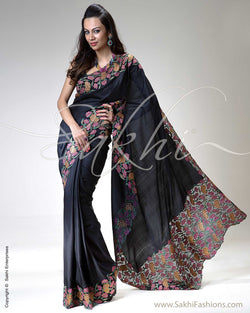 SR-0283 Black Kanchivaram silk saree