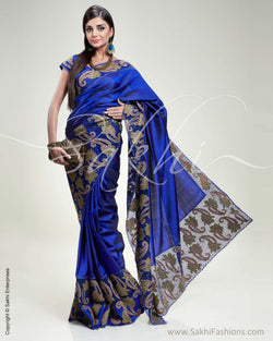 SR-0302 Blue & Antique Kanchivaram Silk Saree