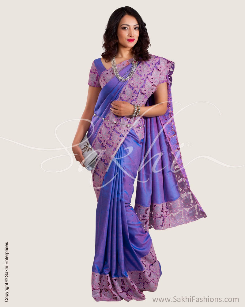 SR-0628 - Lavendar & Pink Pure Kanchivaram Silk Saree