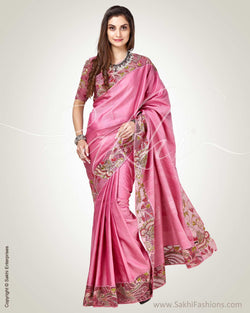 SR-0812 - Pink & Multi Pure Kanchivaram Silk Saree