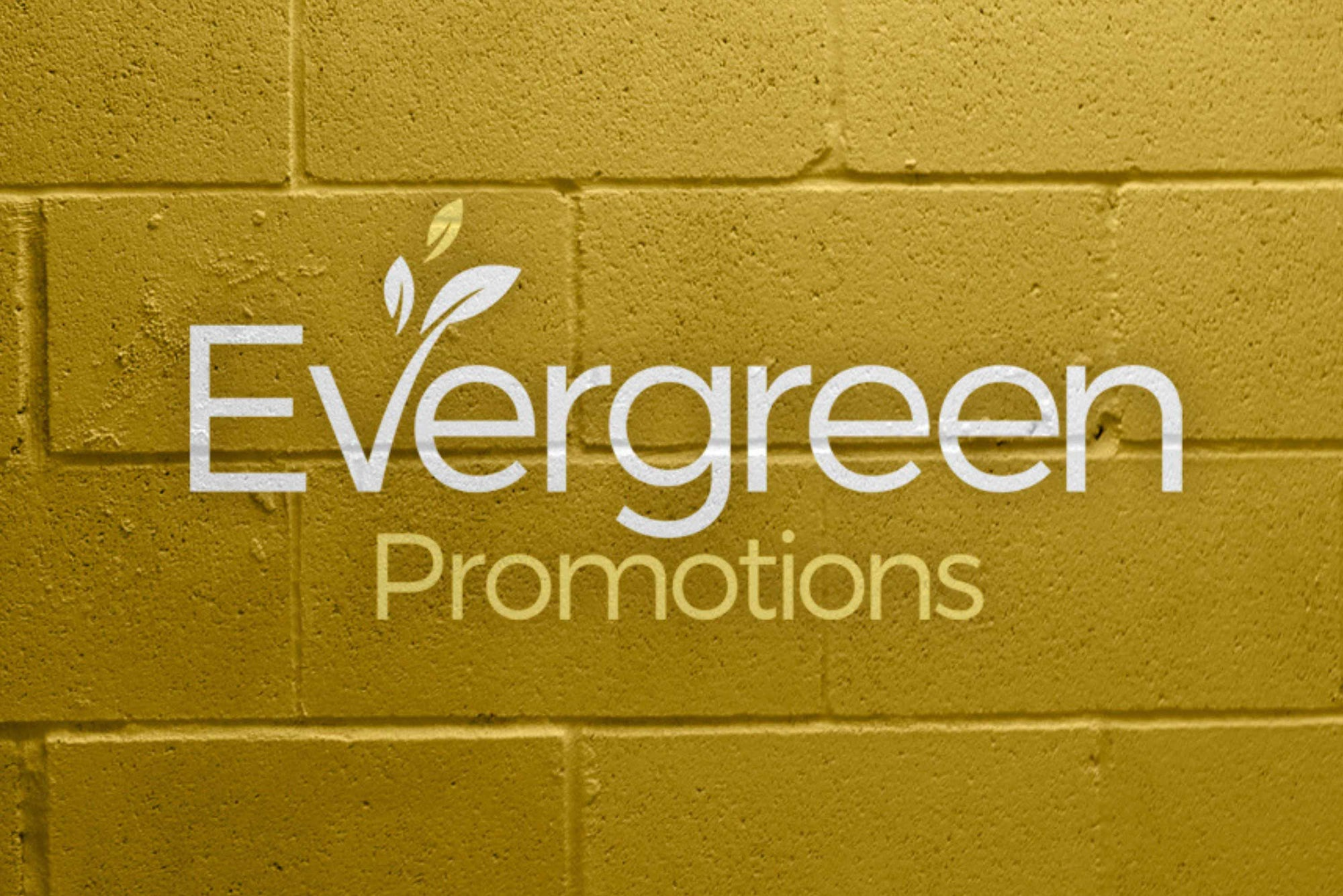 Evergreen Logo Brick Wall