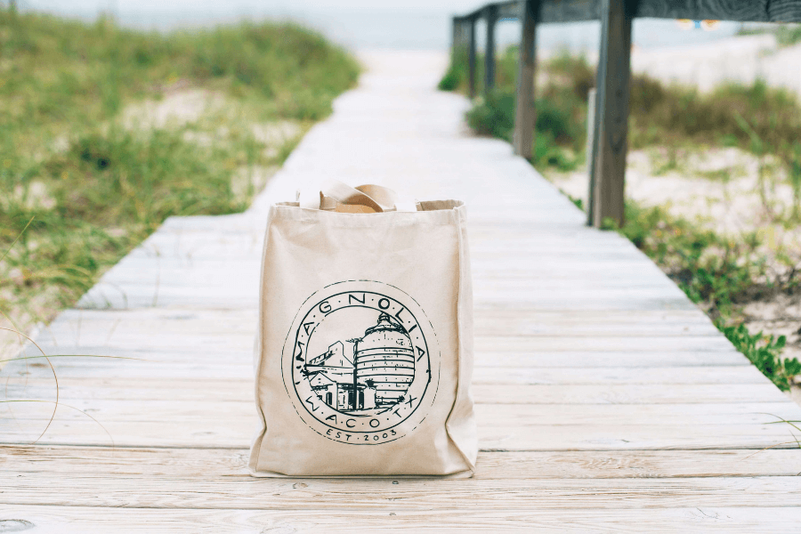 Reusable Tote Bag On Dock