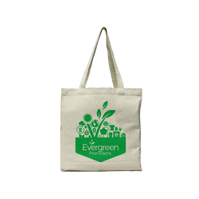 Customized Recycled Canvas Tote Bag Evergreen Promotions Logo