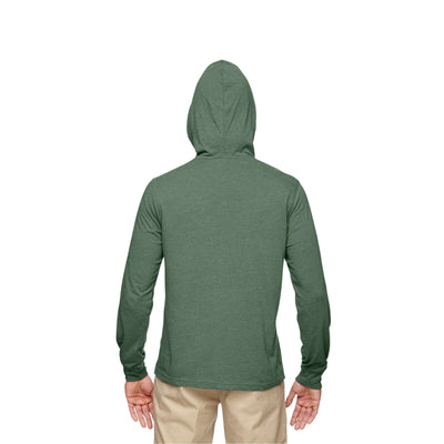 Eco-Friendly Pullover Hoodie Green Back