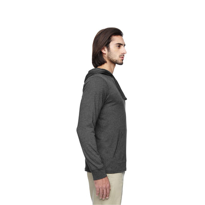 Eco-Friendly Pullover Hoodie Charcoal/Black Side