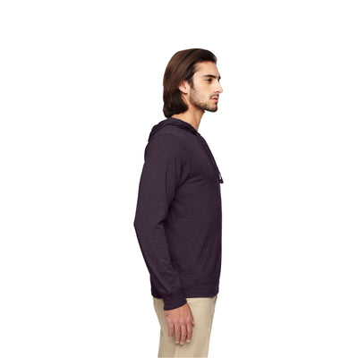 Eco-Friendly Pullover Hoodie Eggplant Side