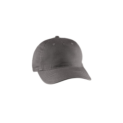 Eco-Friendly Twill 5-Panel Unstructured Hat Charcoal