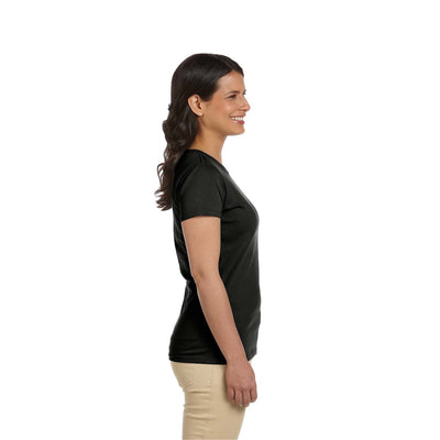 Eco-Friendly Women's T-Shirt Black Side