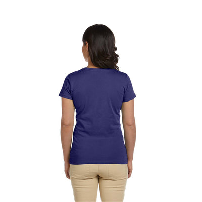 Eco-Friendly Women's T-Shirt Purple Back