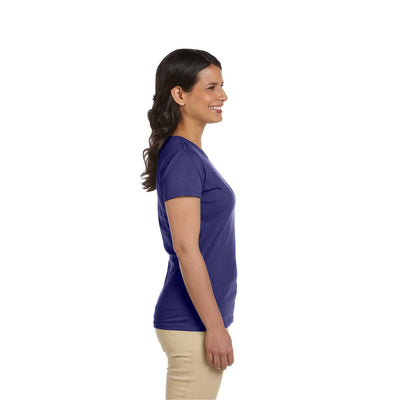 Eco-Friendly Women's T-Shirt Purple Side