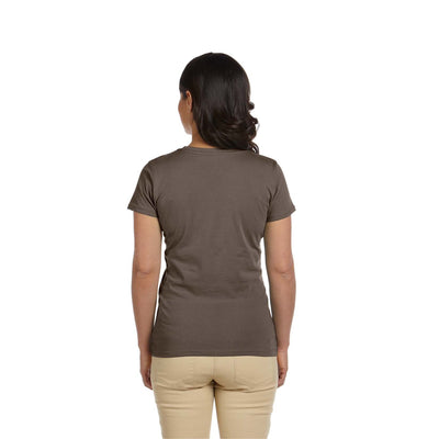 Eco-Friendly Women's T-Shirt Brown Back