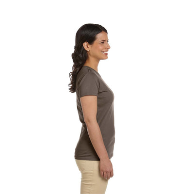 Eco-Friendly Women's T-Shirt Brown Side