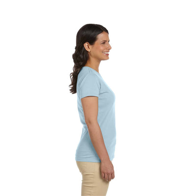 Eco-Friendly Women's T-Shirt Light Blue Side