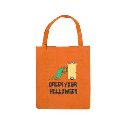 Personalized Halloween Shopping Bag Orange Recycling Monster