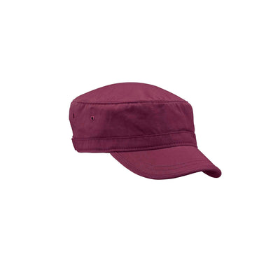 Organic Cotton Twill Corps Hat Maroon