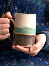 Load image into Gallery viewer, Day at the Beach Coffee Stein // SOLD OUT // Available for preorder