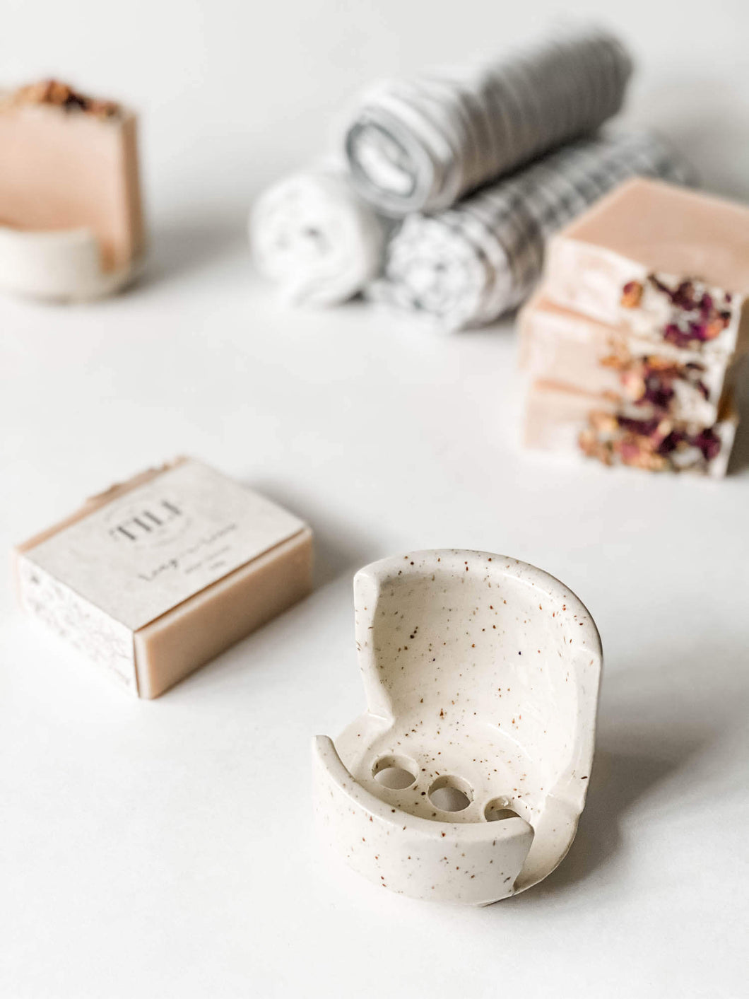 Premium Soap Stand + Soap Bar Gift Set
