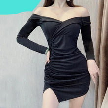 Load image into Gallery viewer, Night Club Off Shoulder Dress