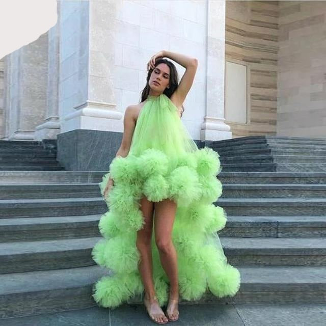 Neon Green Sexy Long Evening Formal Dress
