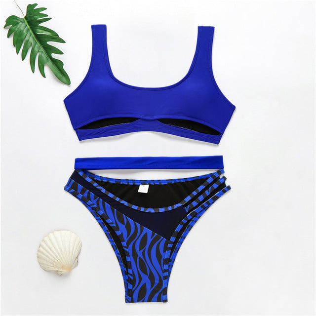 Two Piece Cut Out Swimsuit Set