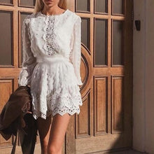Load image into Gallery viewer, Long Lantern Sleeve Lace Dress