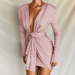 Deep V Neck Elegant Party Dress