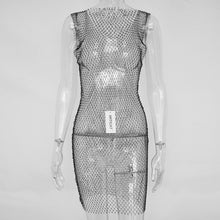 Load image into Gallery viewer, Crystal Diamond Mesh Dress