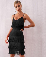 Load image into Gallery viewer, V Neck Tassel Club Dress