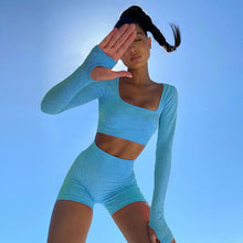 Load image into Gallery viewer, Long Sleeve Yoga Set