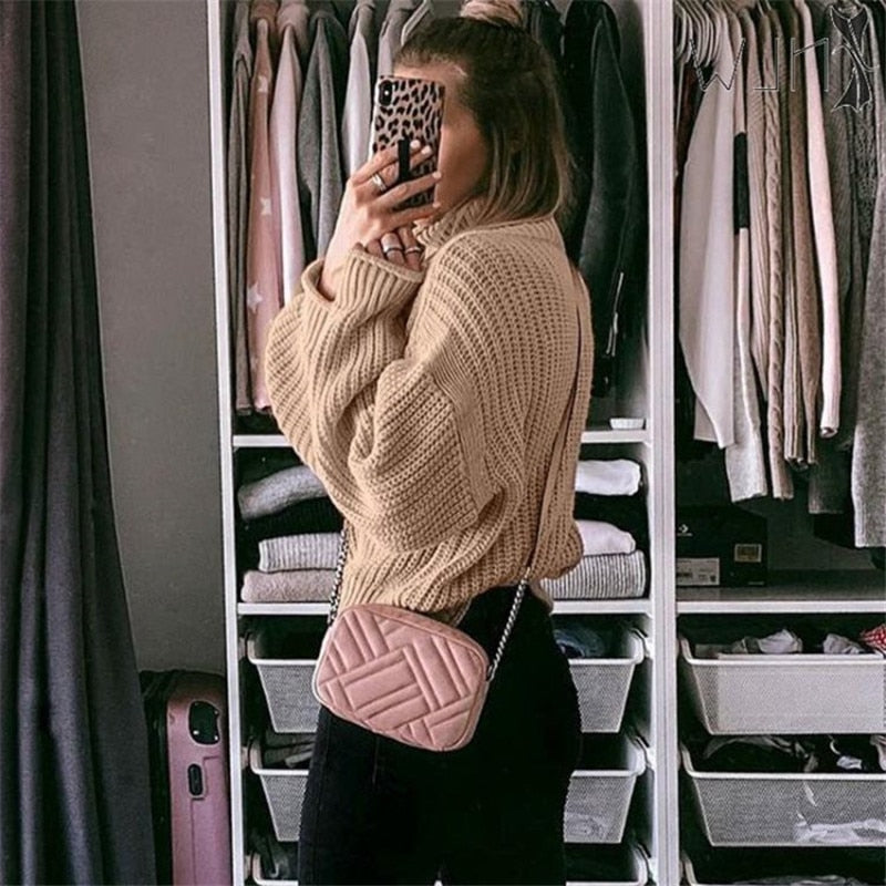 Loose Oversized Turtleneck Sweater