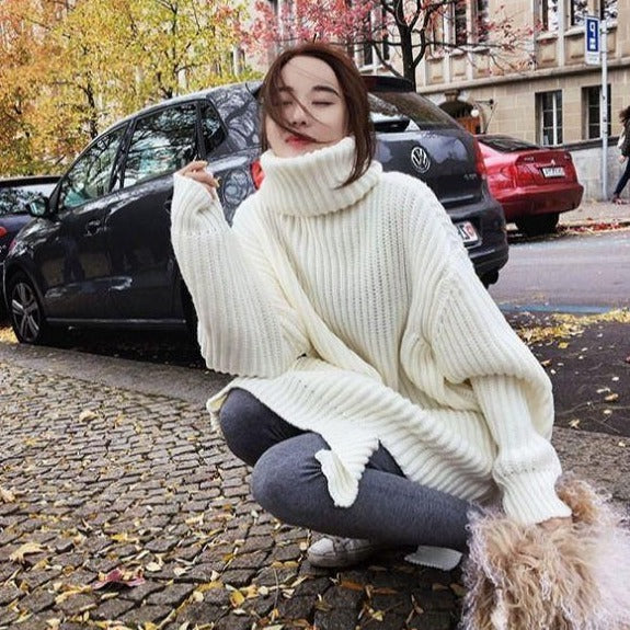 Casual Knitted Turtleneck Sweater
