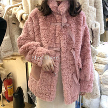 Load image into Gallery viewer, Korean Faux Fur Coat