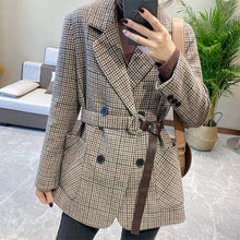 Load image into Gallery viewer, England Style Vintage Plaid Blazer