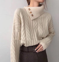Load image into Gallery viewer, Turtleneck Knitted Sweater