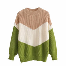Load image into Gallery viewer, Casual V Shape Color Sweater