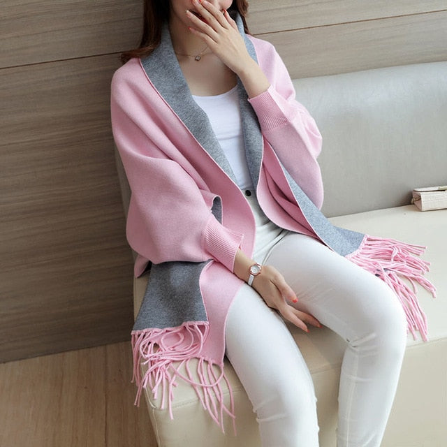 Tassel Shawl Cape Jacket