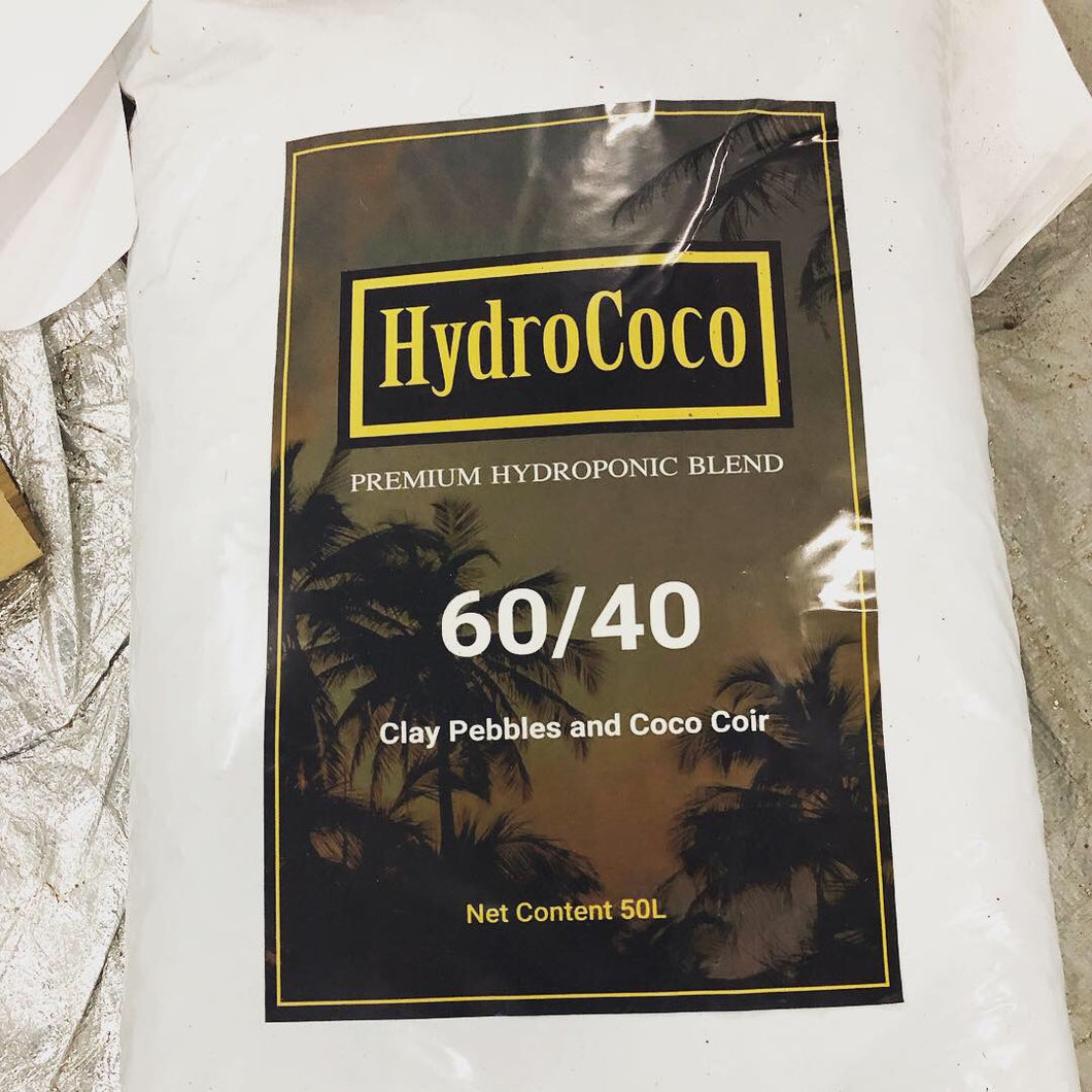 HydroMix 60/40 Clay Pebbles and Coco Coir 50L bag
