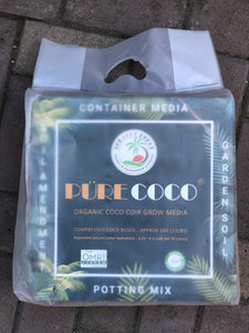 Pure Coco Organic Coco Coir compressed 11lbs block Individually packaged