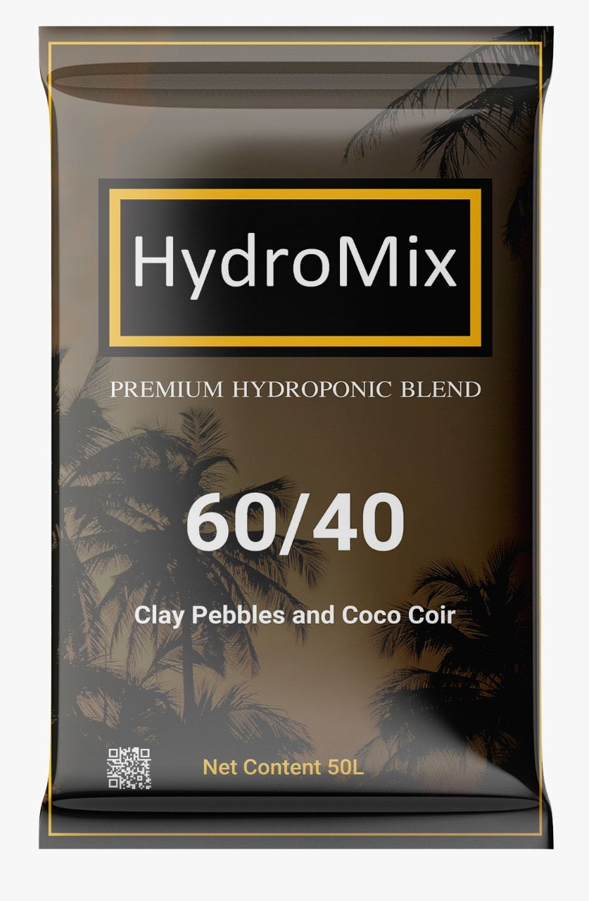 HydroMix 60/40 Coco Coir & Clay Pebbles 50L bag