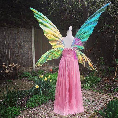 Extra large tall iridescent fairy wings