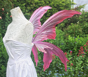 Pink leaf style fairy wings pinkerbell