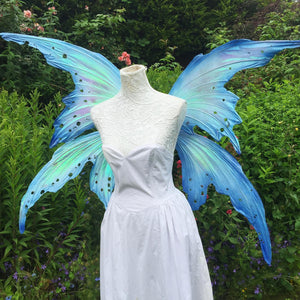 Ice blue queen fairy wings