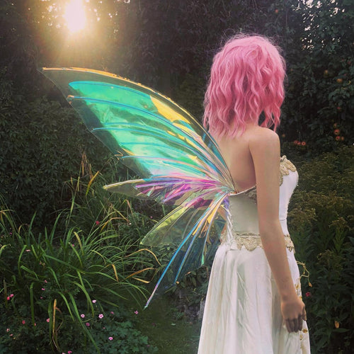 Golden iridescent vinyl fairy wings