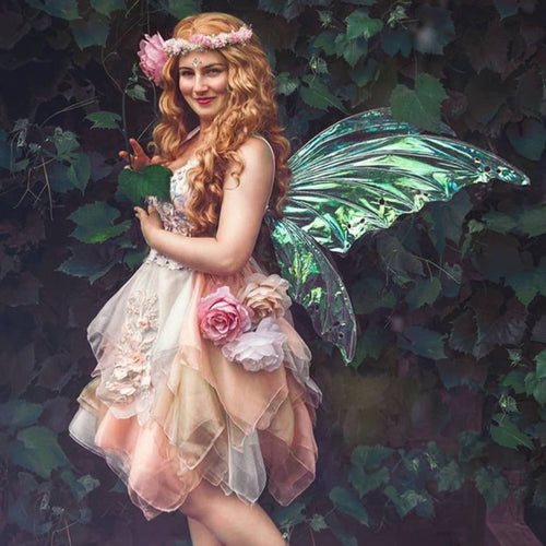 Fairy photography iridescent fairy wings