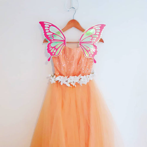 Pink butterfly wings