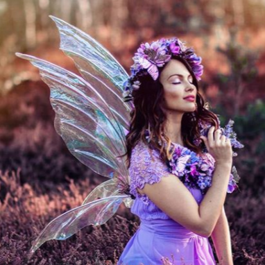 Iridescent fairy wings various sizes