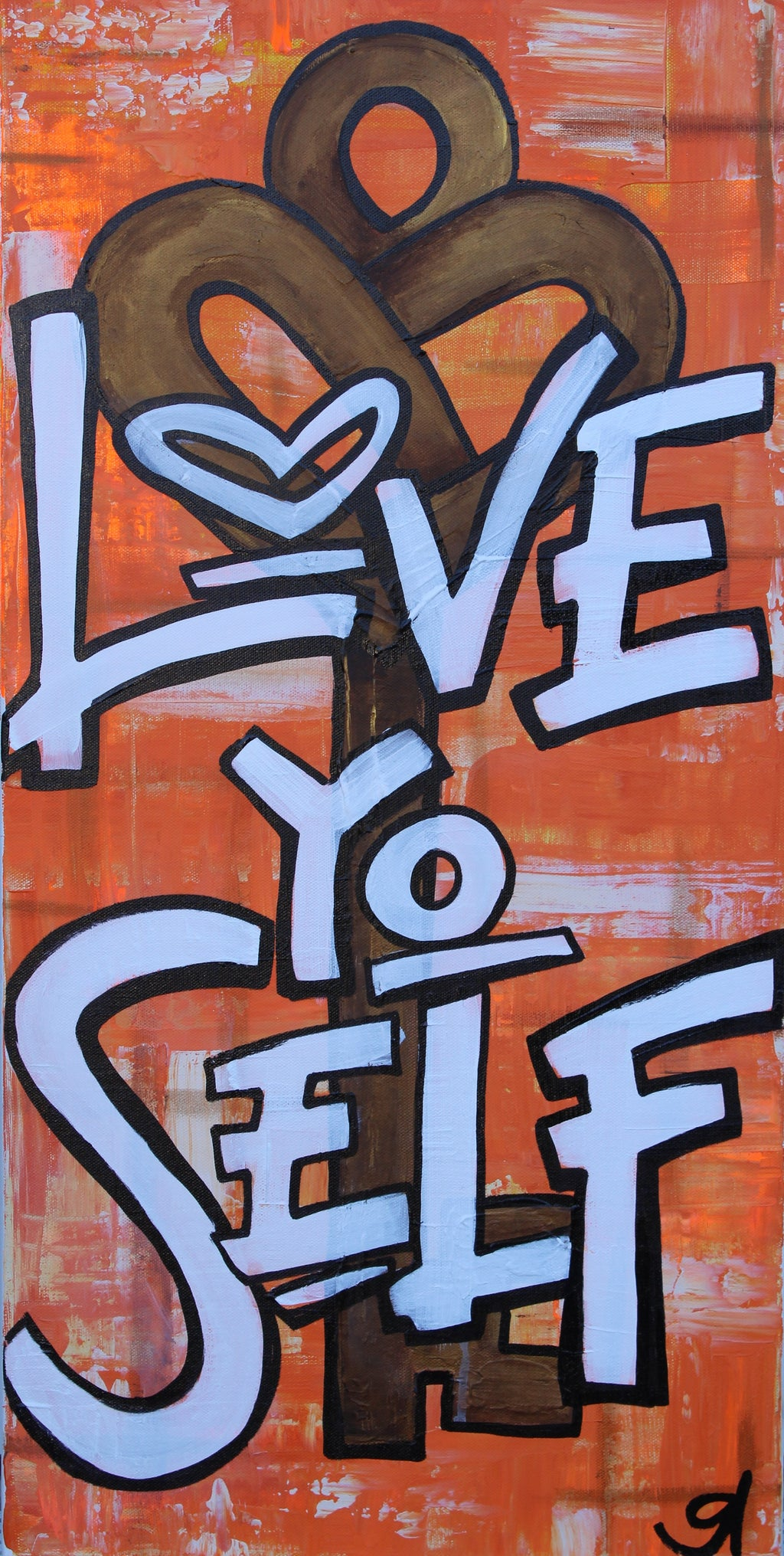 Love Yo Self- Sacral Chakra Healing Wall Art