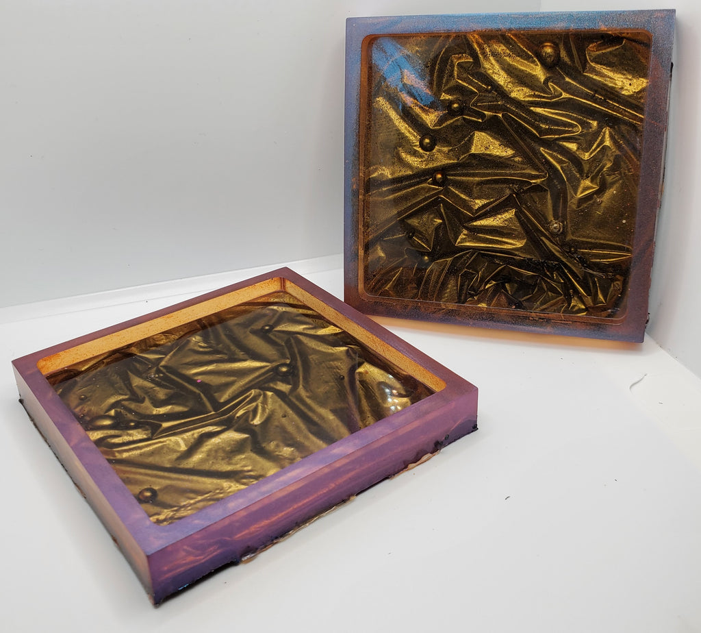 Passion Resin Coasters (2 piece set)